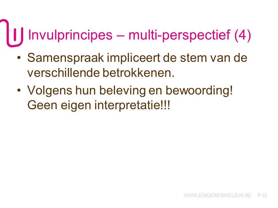 Invulprincipes – multi-perspectief (4)