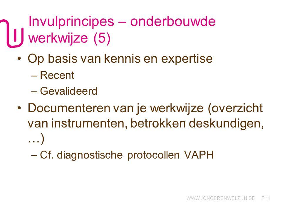 Invulprincipes – onderbouwde werkwijze (5)