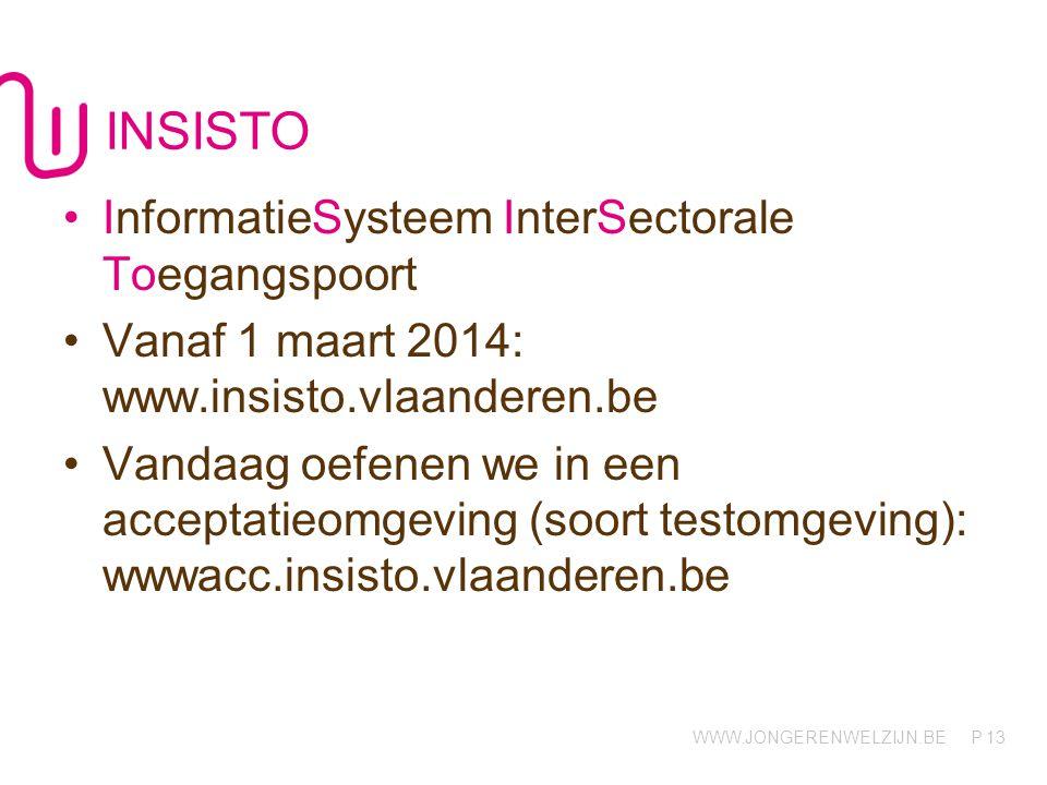 INSISTO InformatieSysteem InterSectorale Toegangspoort