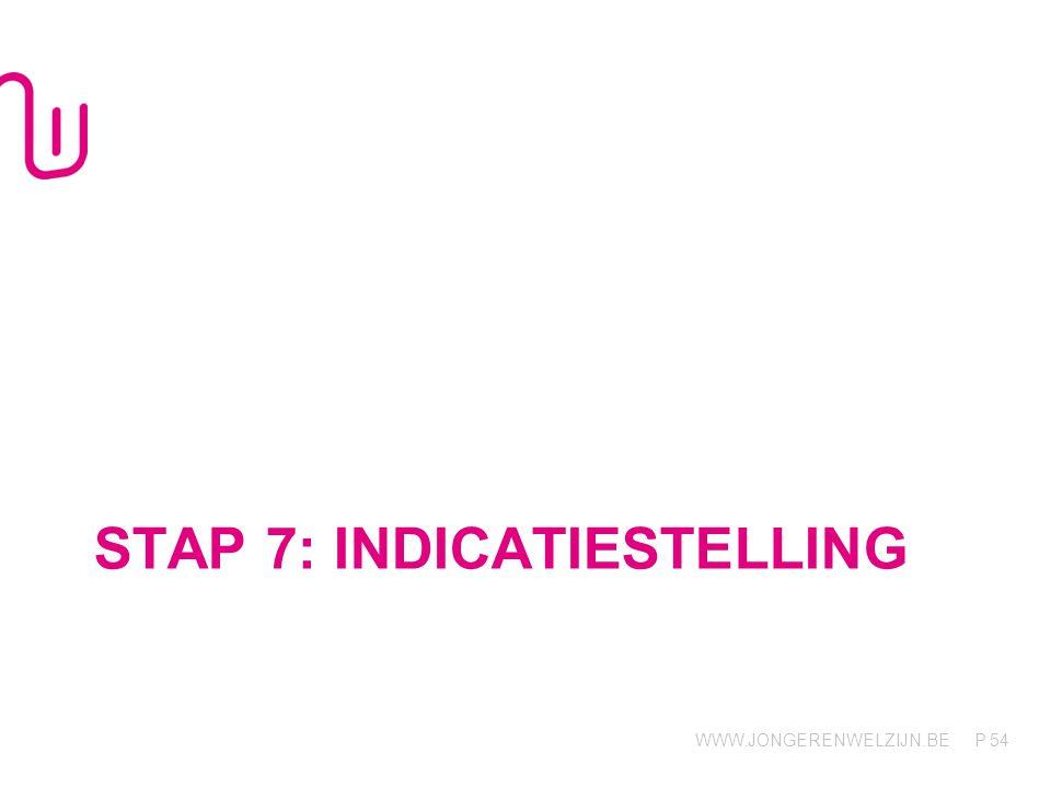 Stap 7: indicatiestelling