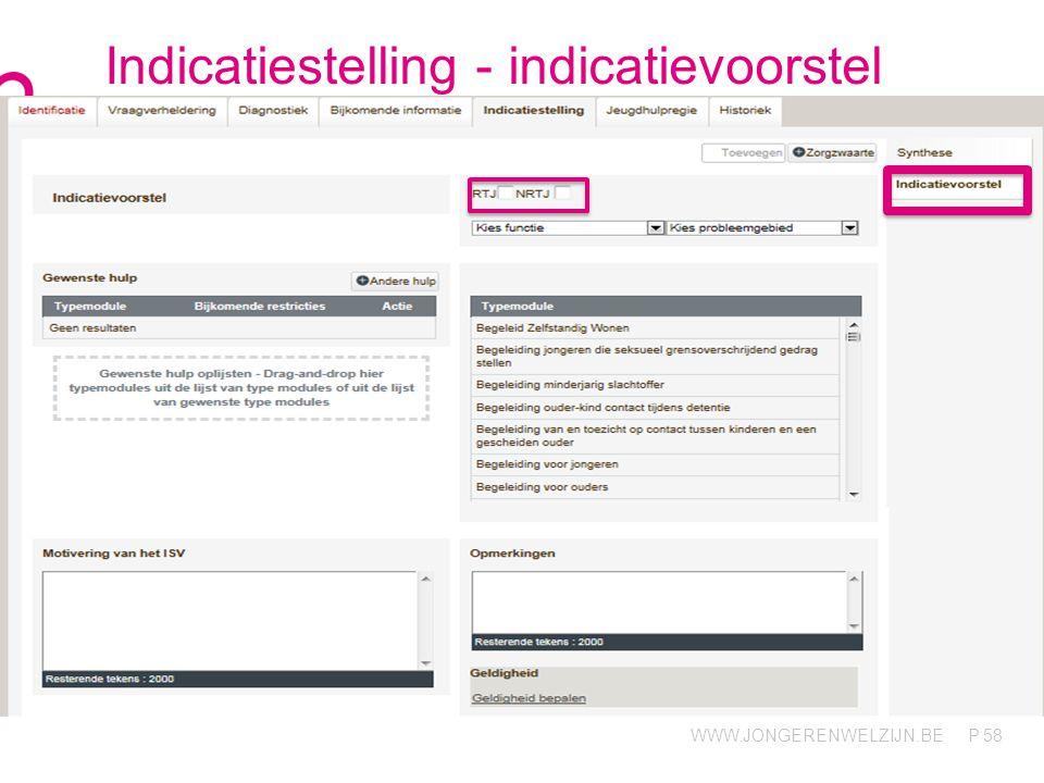 Indicatiestelling - indicatievoorstel