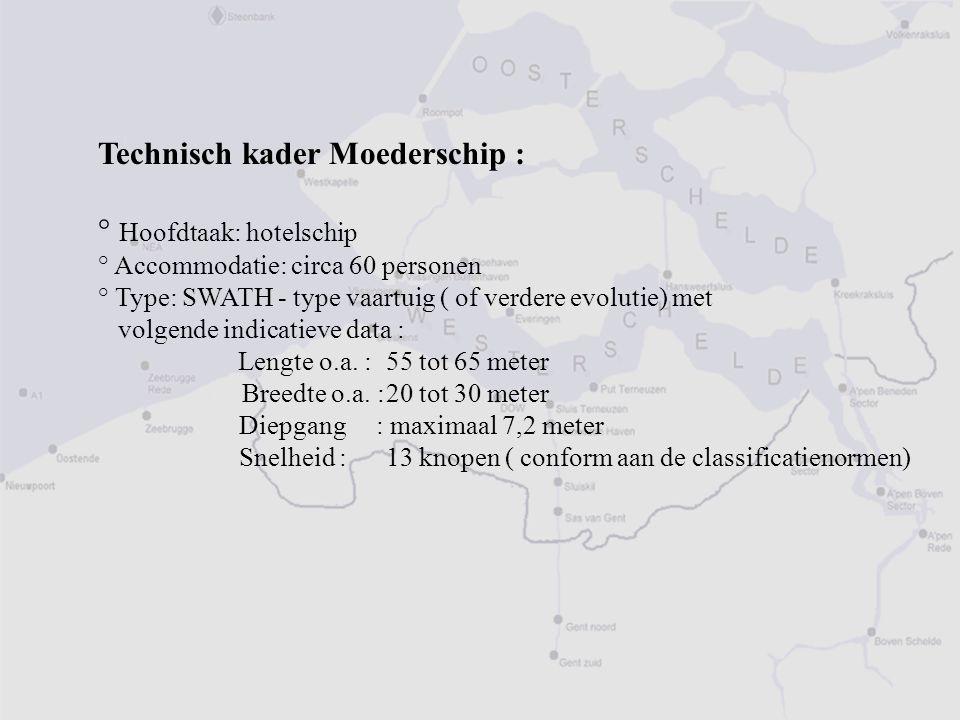 Technisch kader Moederschip : ° Hoofdtaak: hotelschip