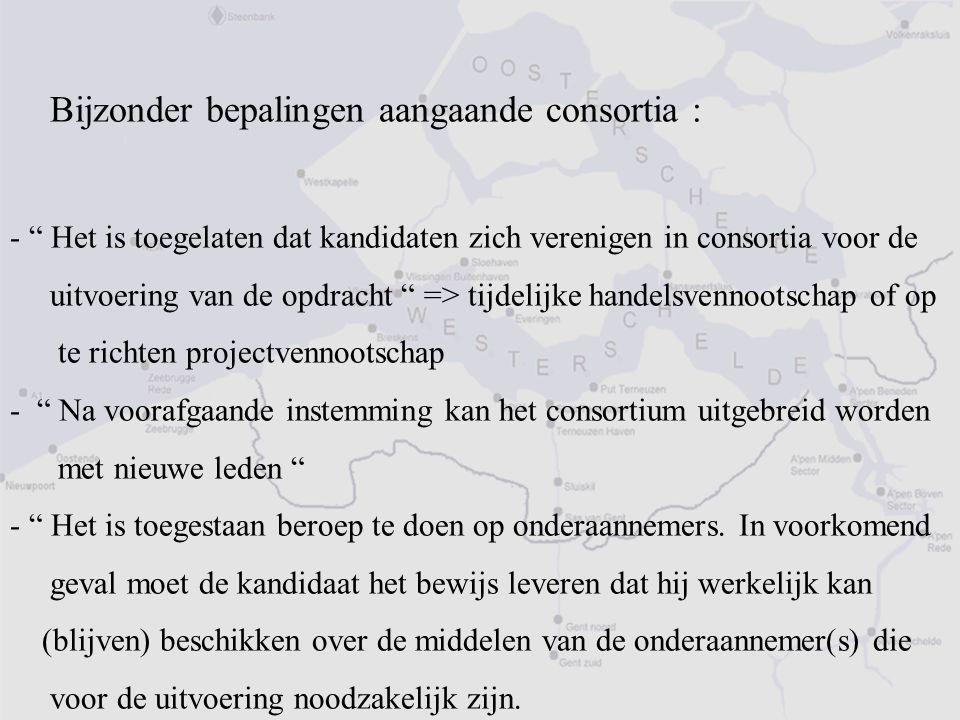 Bijzonder bepalingen aangaande consortia :
