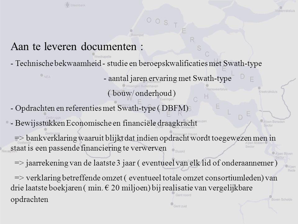 Aan te leveren documenten :