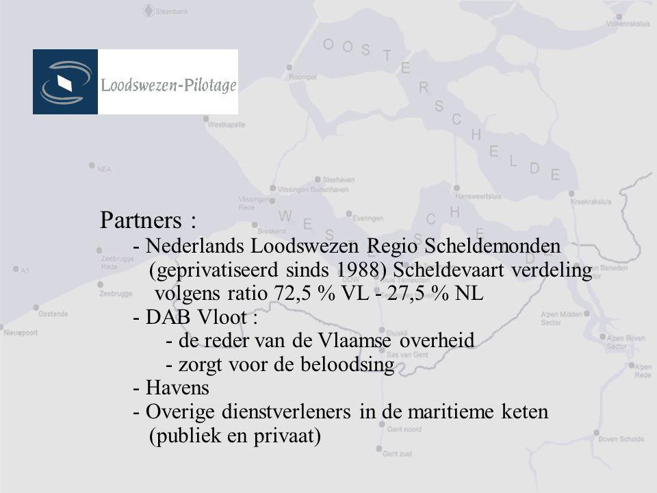 Partners : - Nederlands Loodswezen Regio Scheldemonden