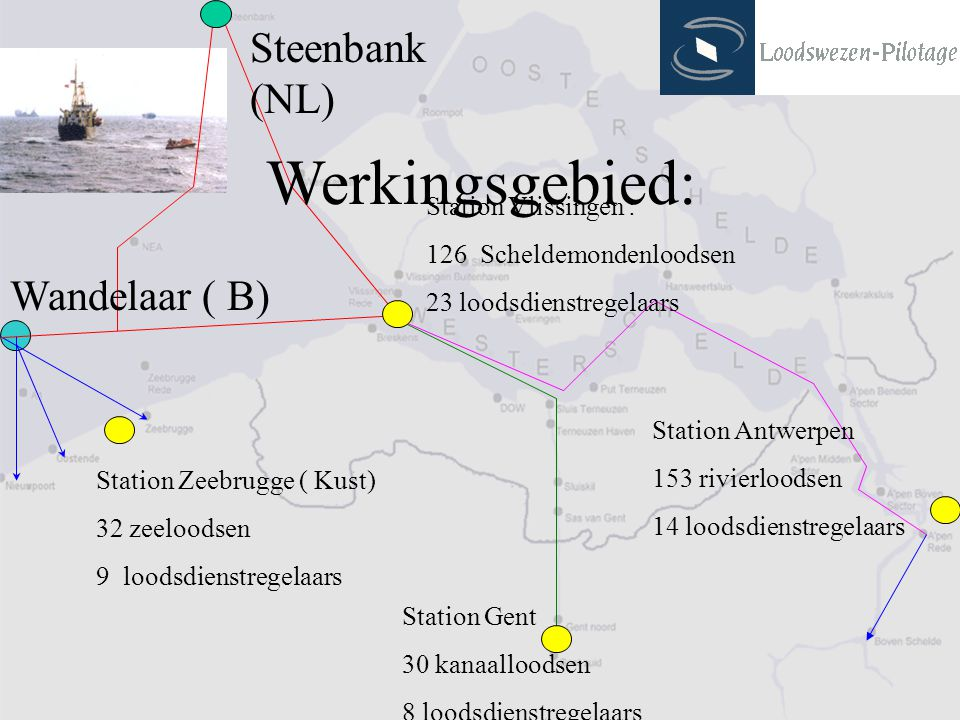 Werkingsgebied: Steenbank (NL) Wandelaar ( B) Station Vlissingen :