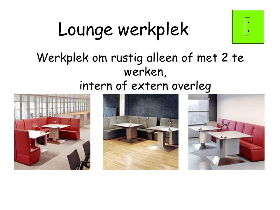 Werkplek om rustig alleen of met 2 te werken, intern of extern overleg