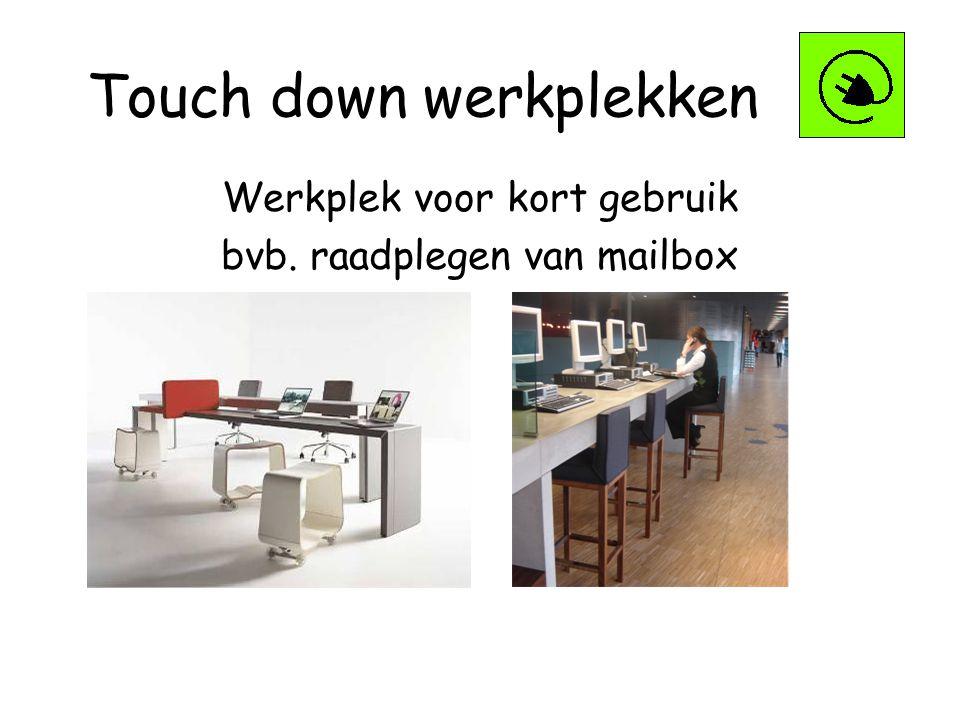 Touch down werkplekken