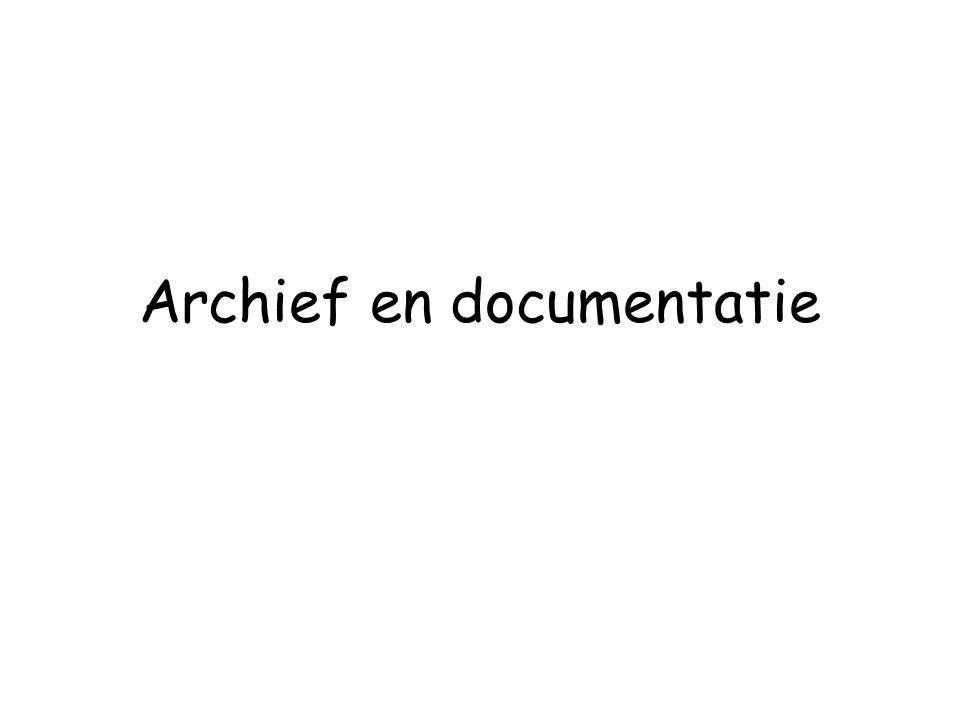 Archief en documentatie