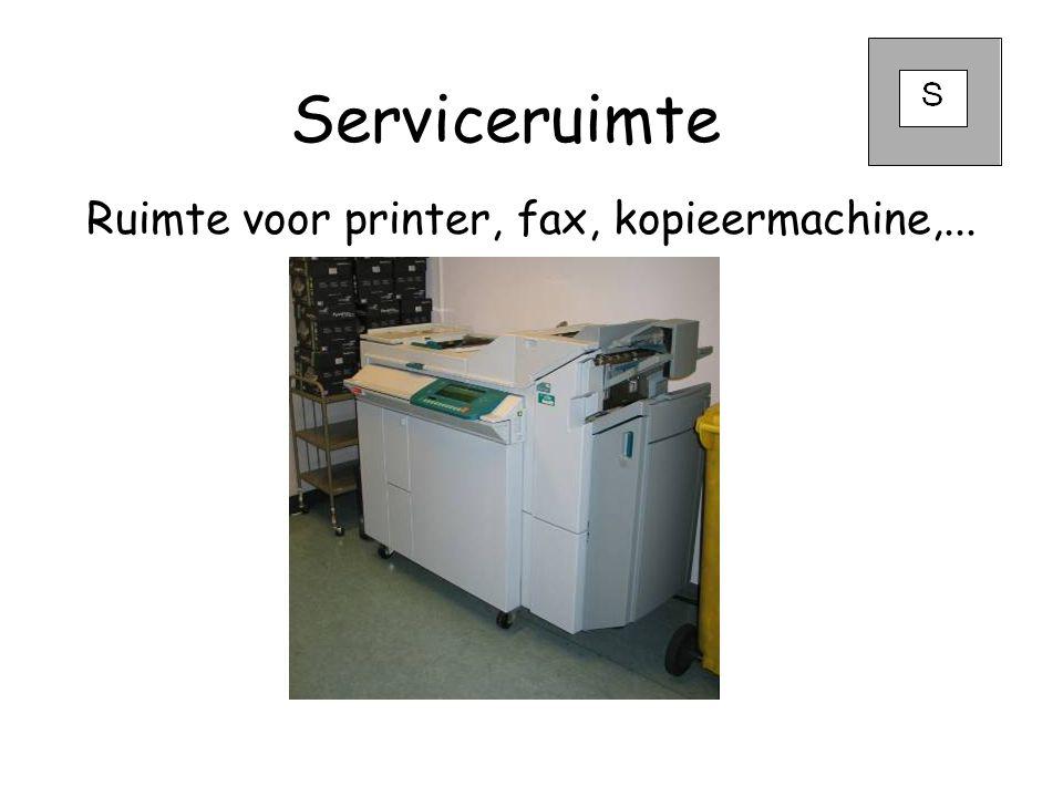 Ruimte voor printer, fax, kopieermachine,...