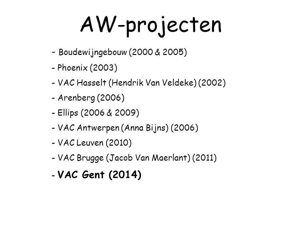 AW-projecten Boudewijngebouw (2000 & 2005) Phoenix (2003)