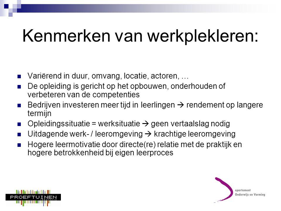 Kenmerken van werkplekleren: