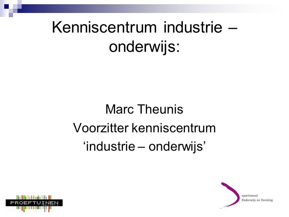Kenniscentrum industrie – onderwijs:
