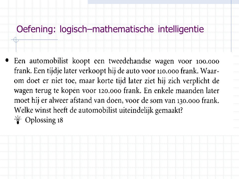 Oefening: logisch–mathematische intelligentie