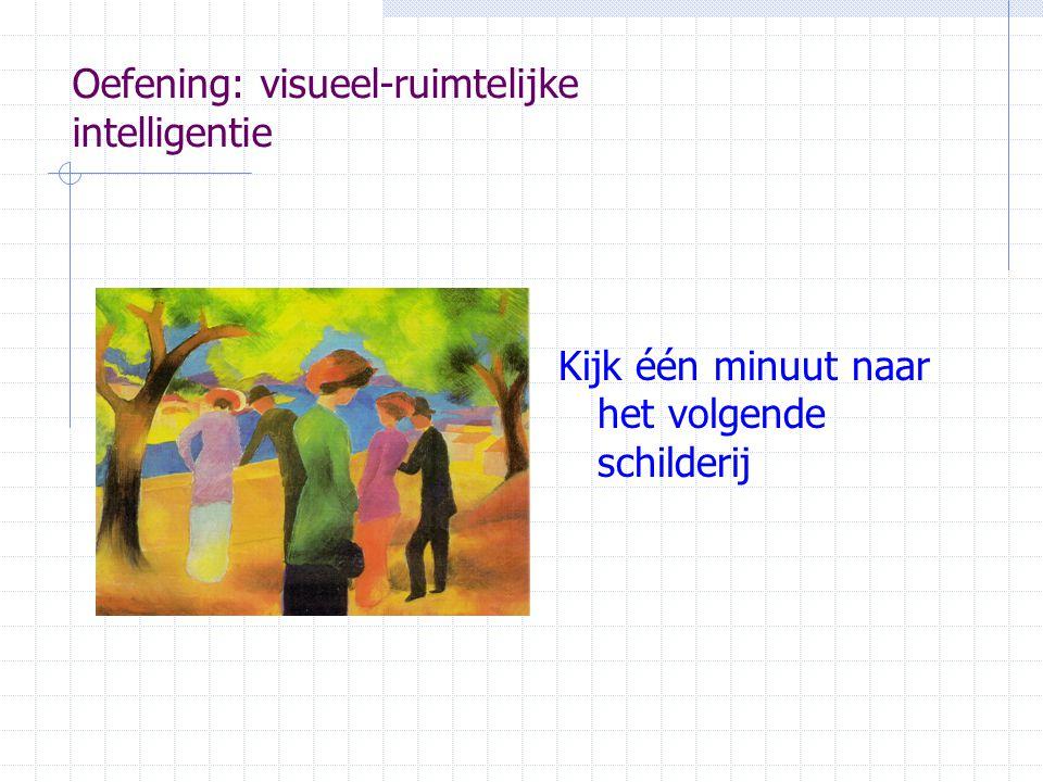 Oefening: visueel-ruimtelijke intelligentie