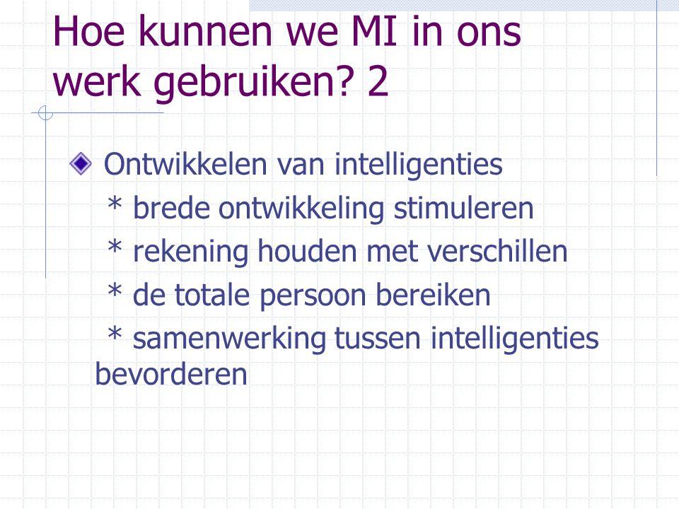 Hoe kunnen we MI in ons werk gebruiken 2