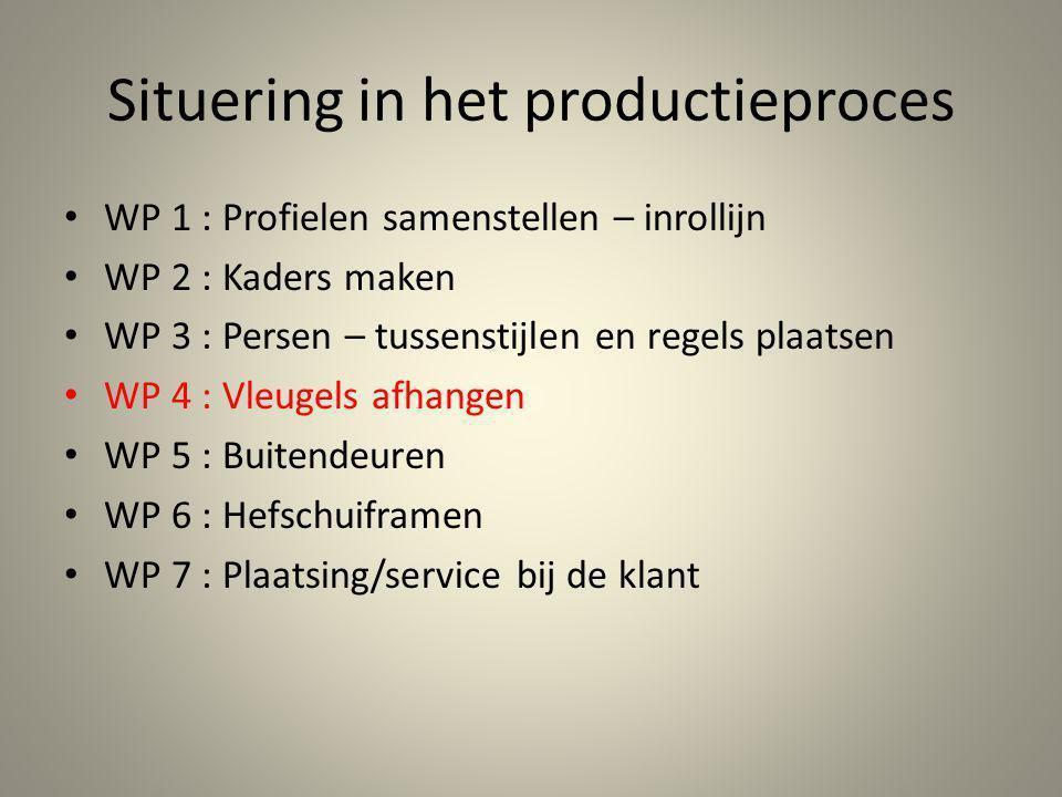 Situering in het productieproces