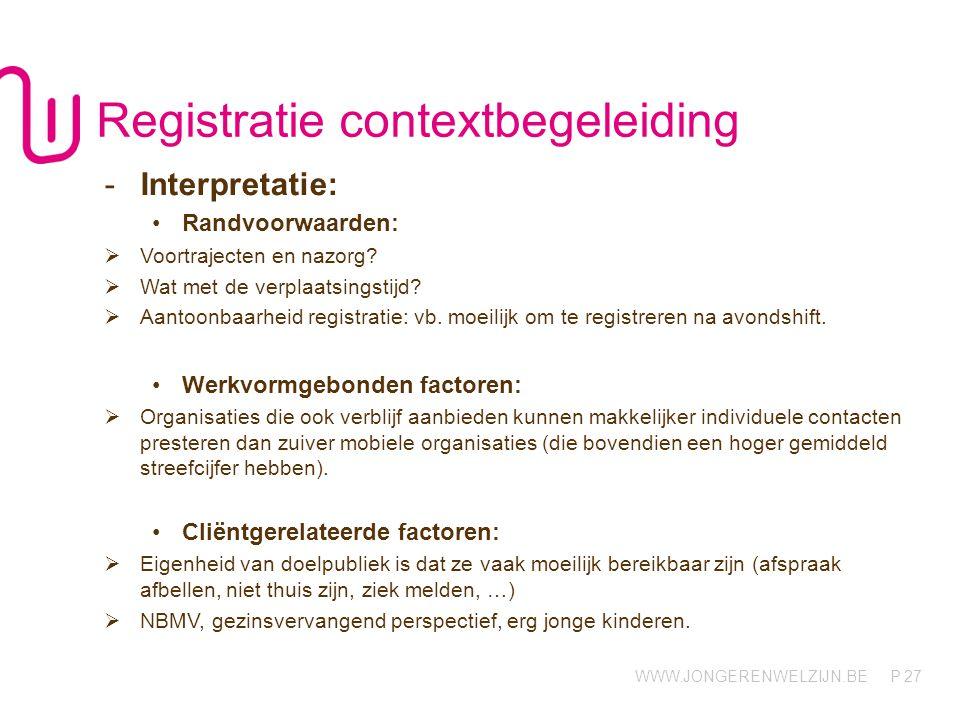 Registratie contextbegeleiding