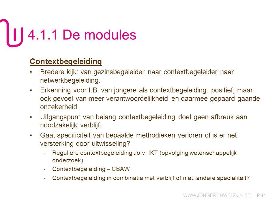 4.1.1 De modules Contextbegeleiding