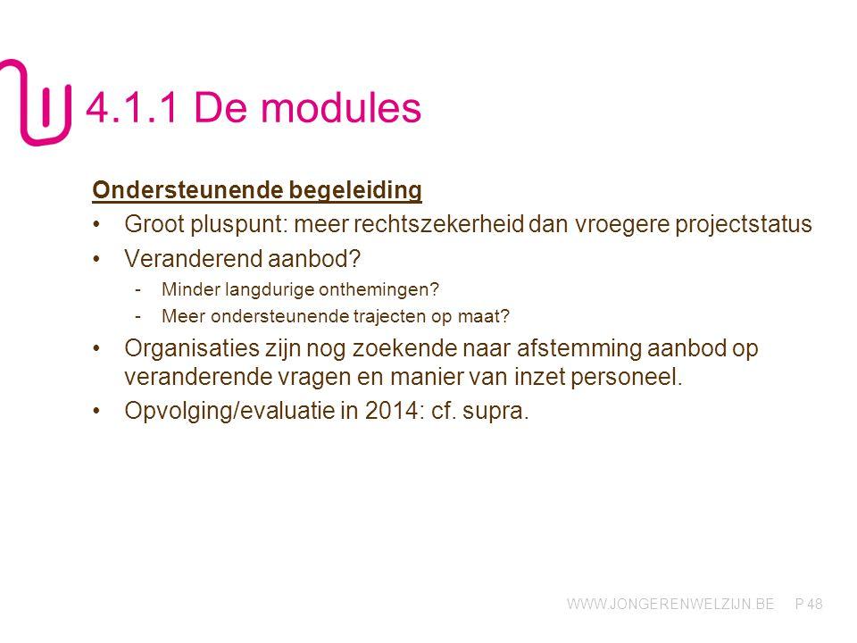 4.1.1 De modules Ondersteunende begeleiding