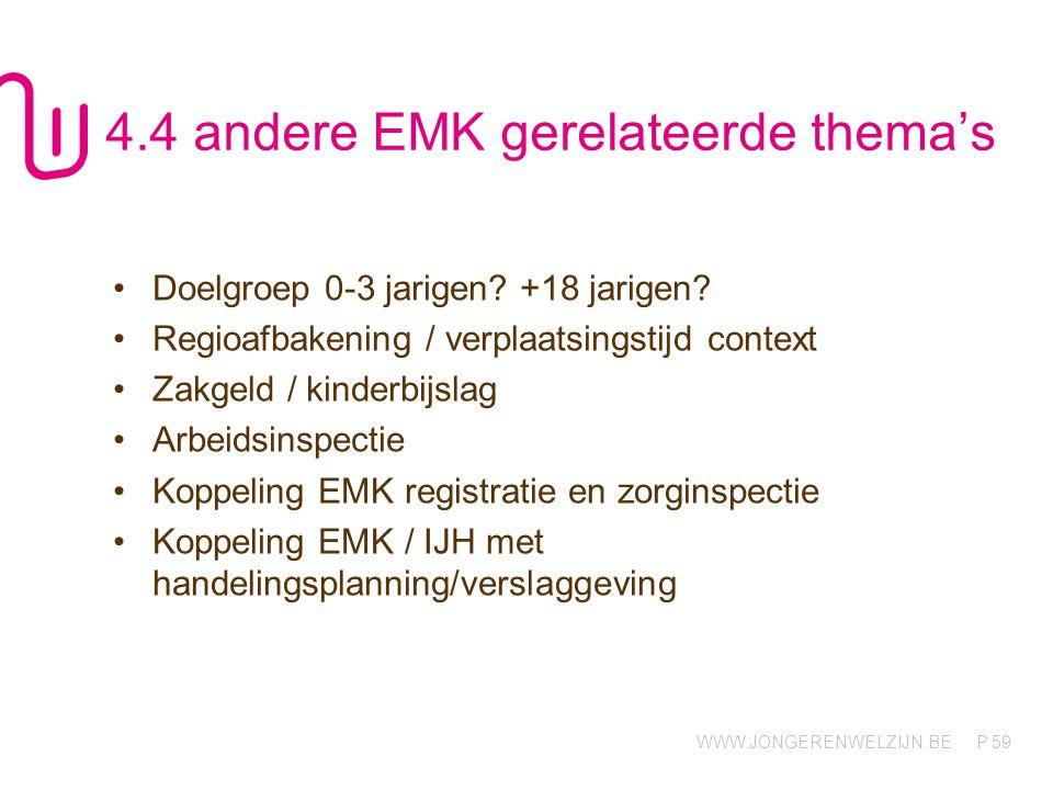 4.4 andere EMK gerelateerde thema's
