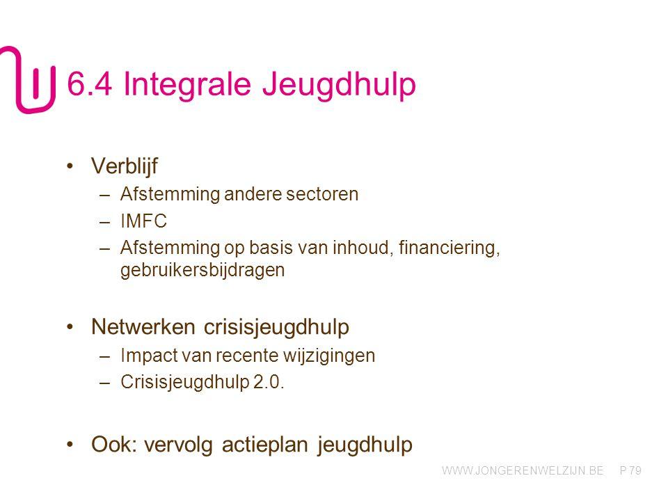 6.4 Integrale Jeugdhulp Verblijf Netwerken crisisjeugdhulp