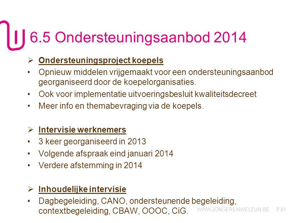 6.5 Ondersteuningsaanbod 2014
