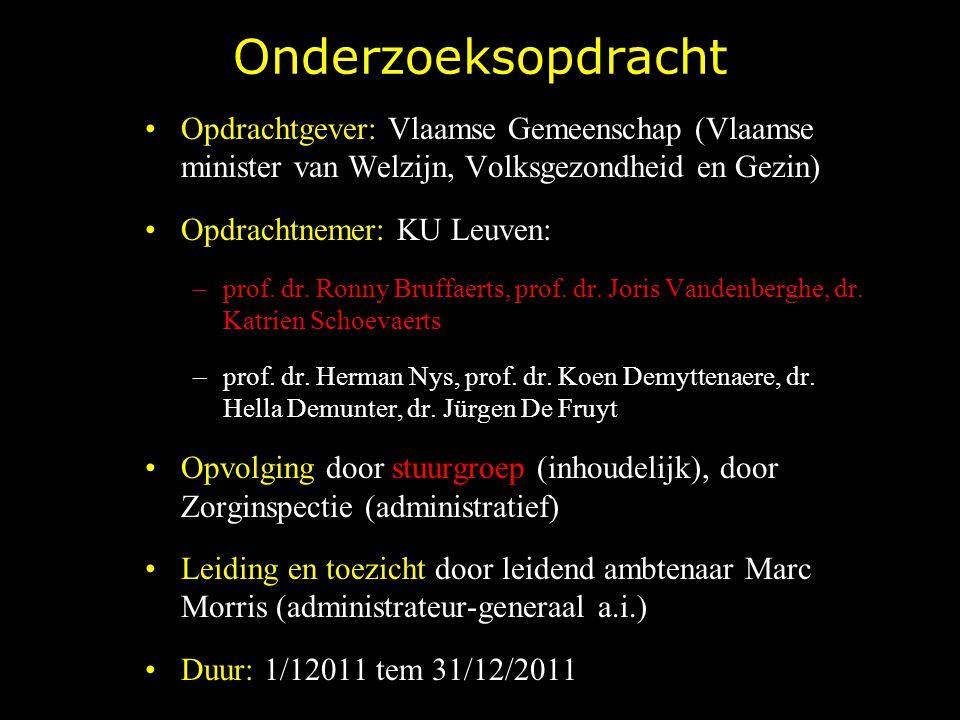 Onderzoeksopdracht Opdrachtgever: Vlaamse Gemeenschap (Vlaamse minister van Welzijn, Volksgezondheid en Gezin)