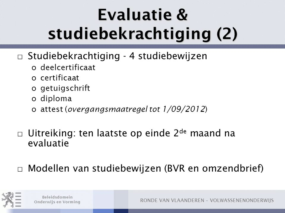 Evaluatie & studiebekrachtiging (2)