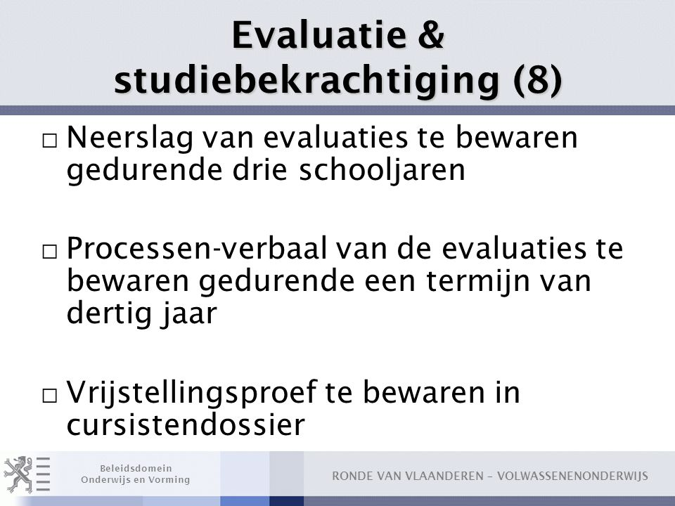 Evaluatie & studiebekrachtiging (8)
