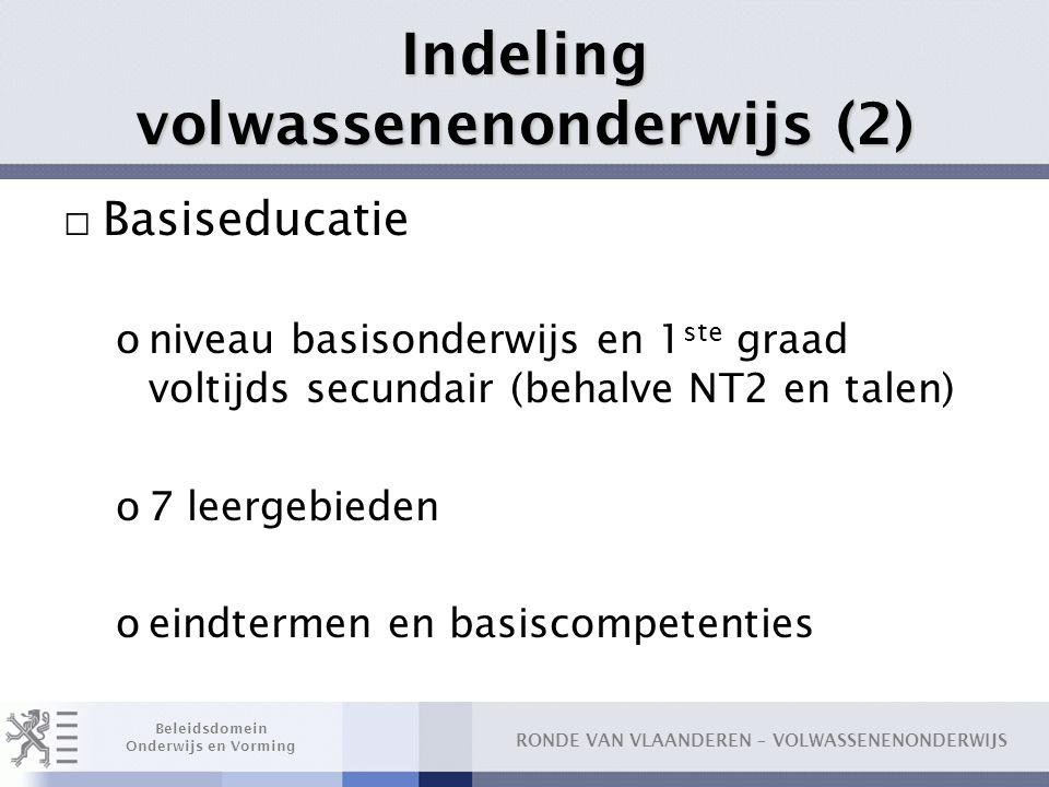 Indeling volwassenenonderwijs (2)
