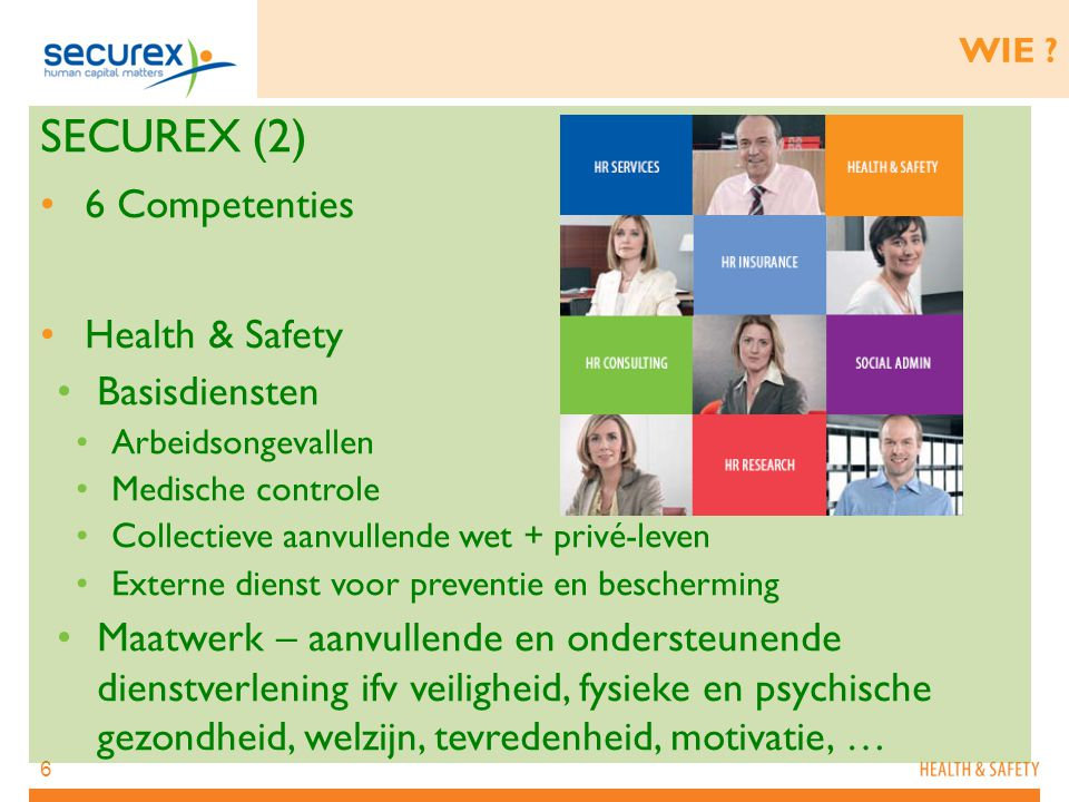 SECUREX (2) 6 Competenties Health & Safety Basisdiensten
