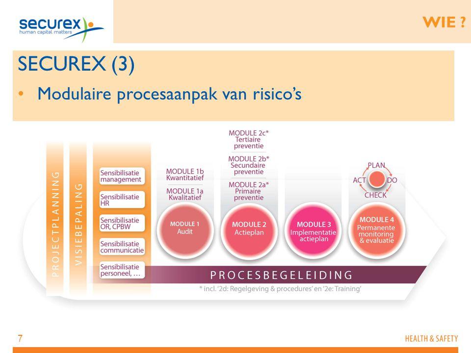 WIE SECUREX (3) Modulaire procesaanpak van risico's