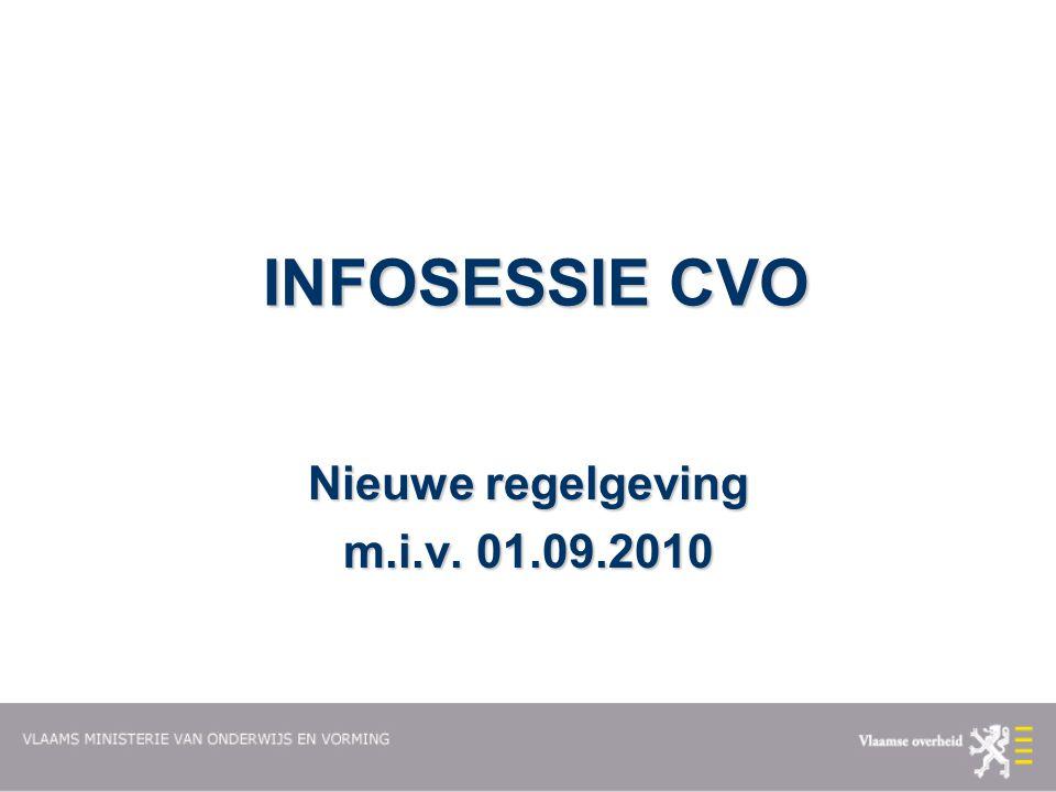 Nieuwe regelgeving m.i.v. 01.09.2010