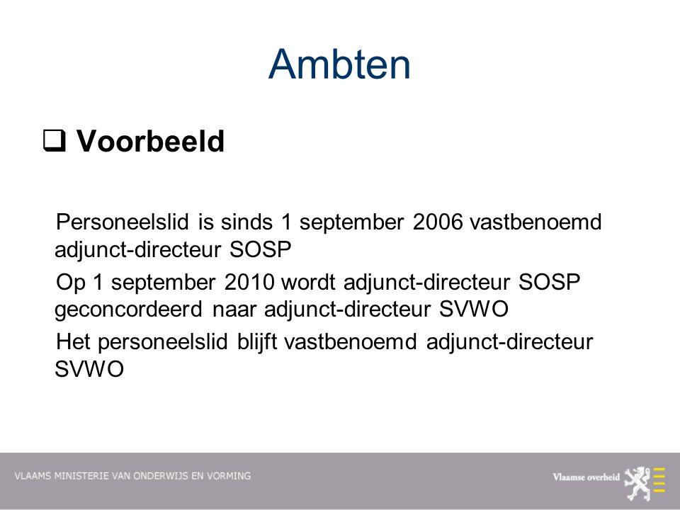Ambten Voorbeeld. Personeelslid is sinds 1 september 2006 vastbenoemd adjunct-directeur SOSP.