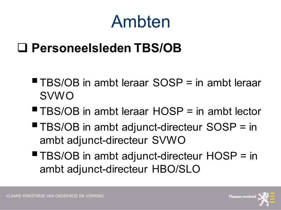 Ambten Personeelsleden TBS/OB