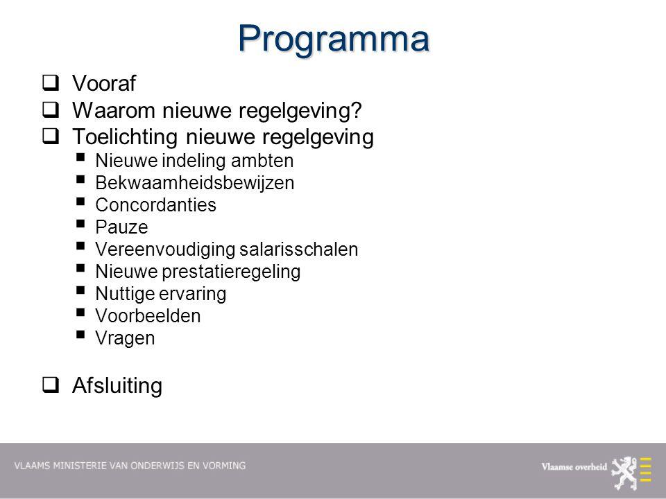 Programma Vooraf Waarom nieuwe regelgeving