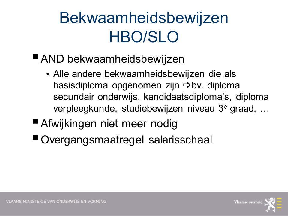 Bekwaamheidsbewijzen HBO/SLO