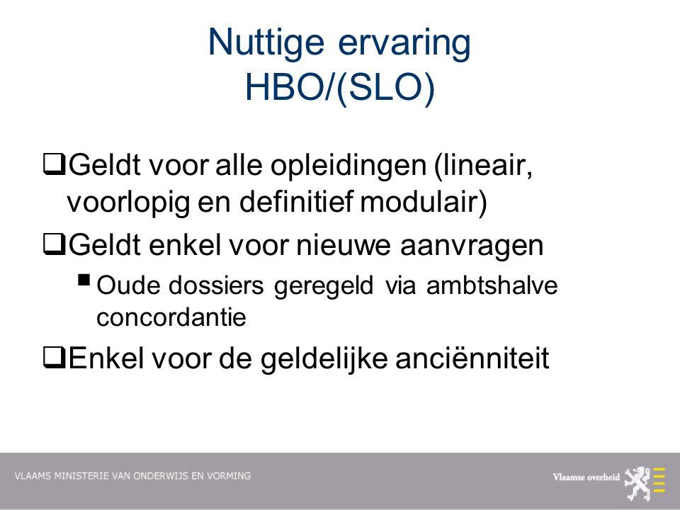 Nuttige ervaring HBO/(SLO)