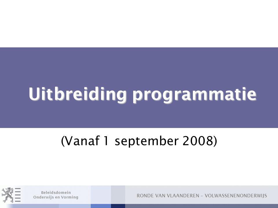 Uitbreiding programmatie