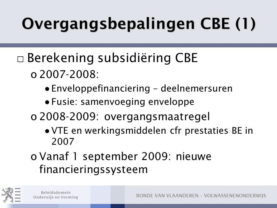 Overgangsbepalingen CBE (1)