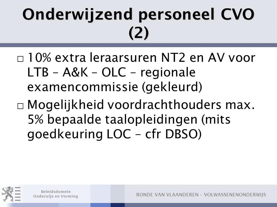 Onderwijzend personeel CVO (2)