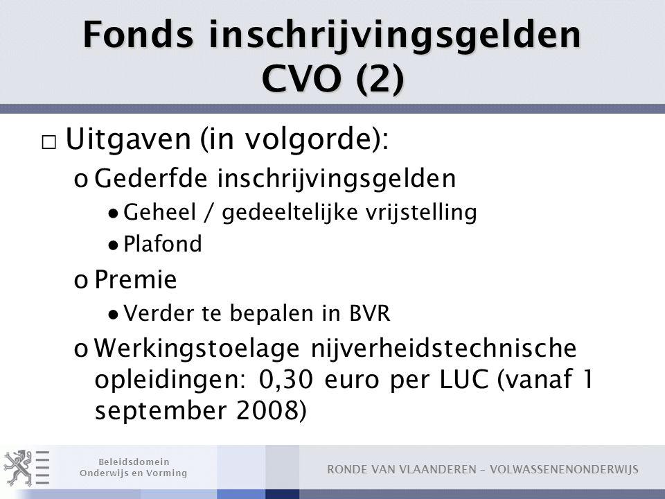 Fonds inschrijvingsgelden CVO (2)