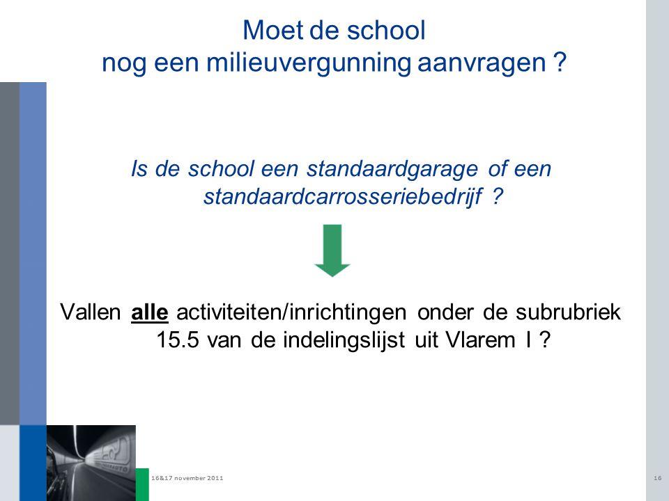Moet de school nog een milieuvergunning aanvragen