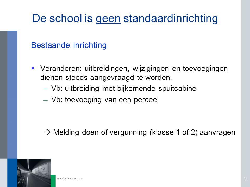 De school is geen standaardinrichting