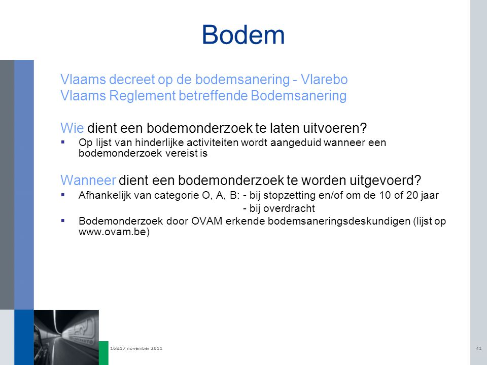 Bodem Vlaams decreet op de bodemsanering - Vlarebo