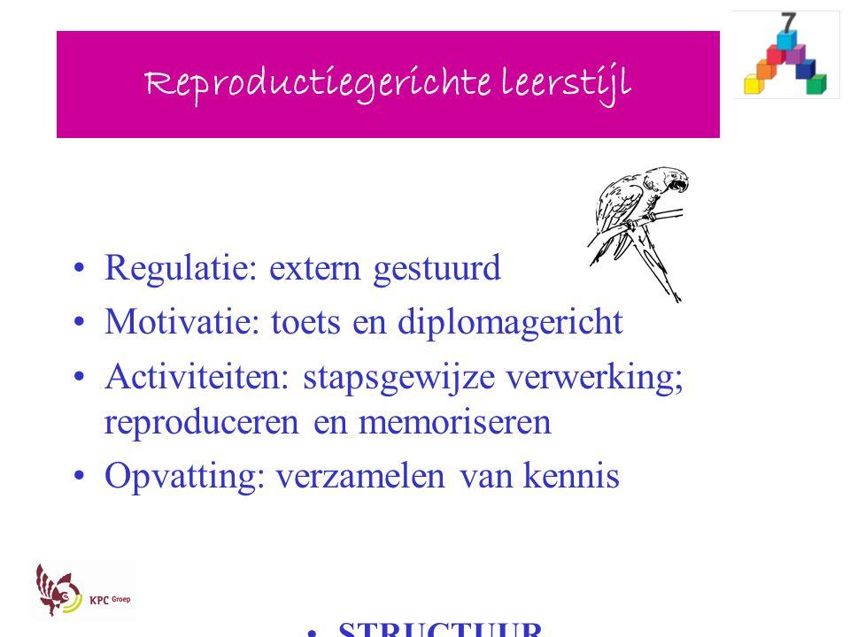 Reproductiegerichte leerstijl