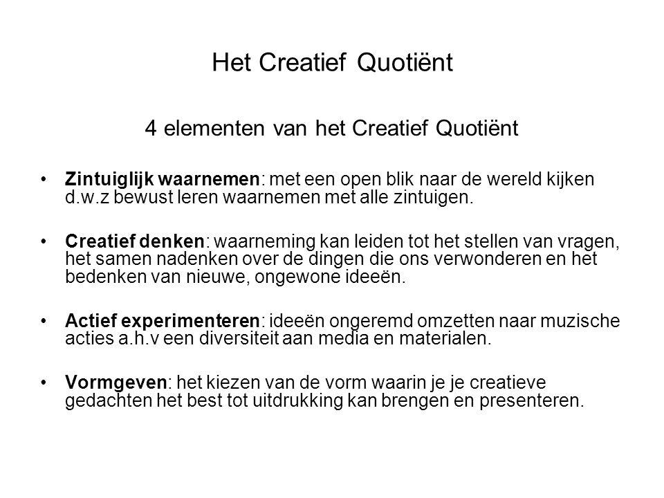 4 elementen van het Creatief Quotiënt