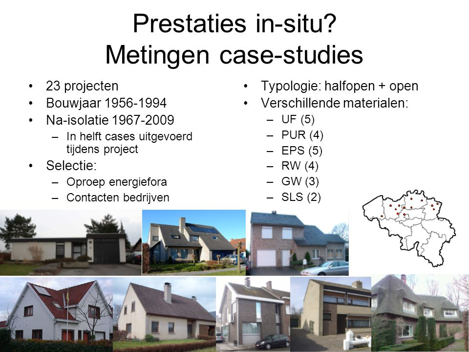 Prestaties in-situ Metingen case-studies