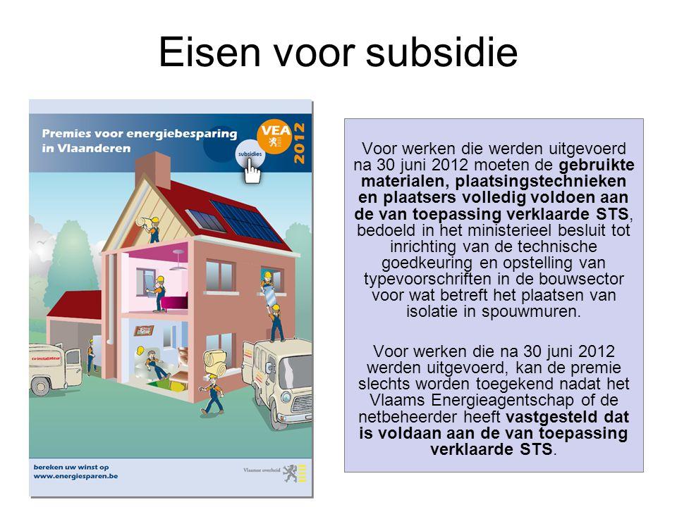 Eisen voor subsidie